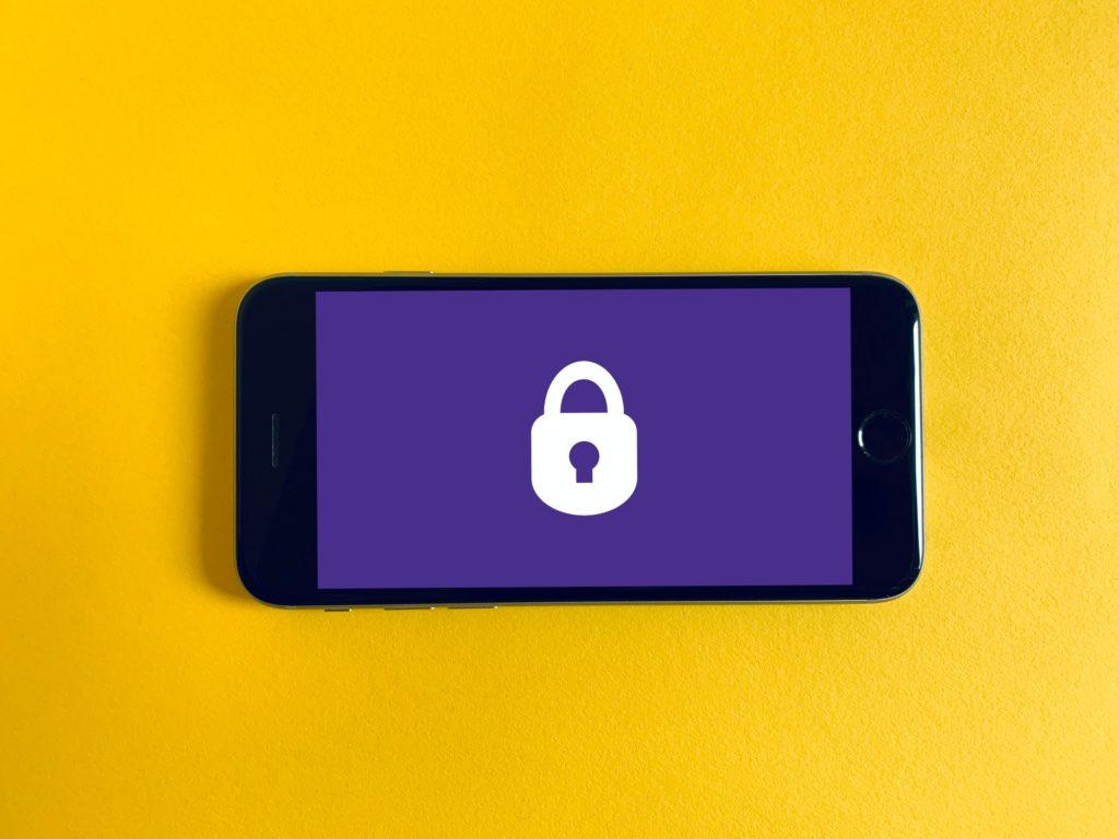 GSM-toestel met vergrendeld scherm